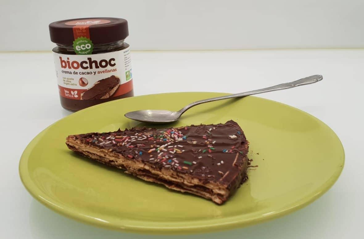 Productos ecológicos bioBética, 100% bio, Crema de cacao para untar con aove y avellanas, sin gluten, sin leche, sin huevo, sin alérgenos, sin grasa de palma y apto para veganos