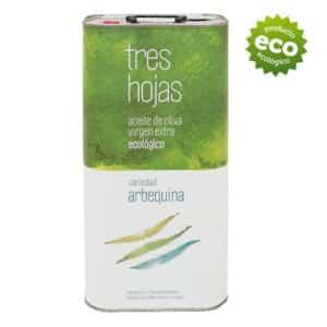 Aceite de oliva virgen extra ecológico de la variedad arbequina