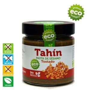Comprar online tahini o pasta de sésamo ecológico, sin leche (Apto APLV), sin lactosa y VEGANA. Tahini de sésamo. Propiedades del tahini o sésamo.