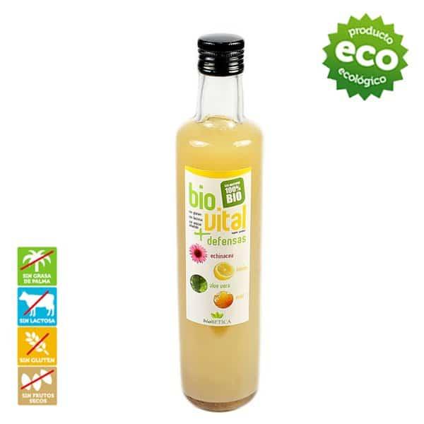 bioVital Vitaminas Biobetica, 100% bio-betica-campo-puro-zumo-jugo-biovital-echinacea-limon-aloe-vera-miel-ecologico-defensas-gripe-resfriados-sistema-inmunologico-sin-azucar-gluten-grasa-palma-2
