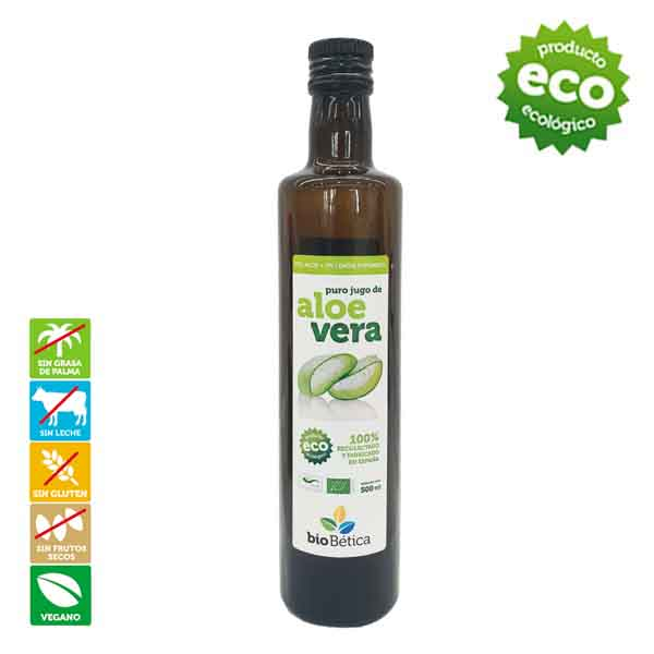 Jugo Aloe Vera 100% BIO Biobetica. Campo Bética zumo de jugo de aloe vera