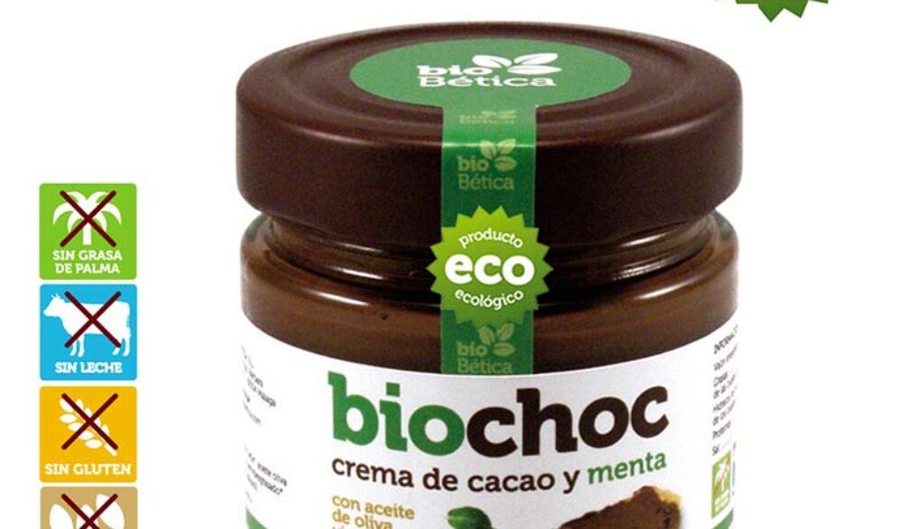 Crema de cacao y menta sin frutos secos, sin lactosa, apto para APLV y vegana