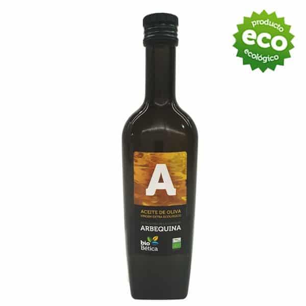 Aceite de oliva virgen extra biobetica-aove-arbequino-1-litro-aceite-oliva-extra-virgen-ecologico-monovarietal-hojiblanca-arbequina-500ml