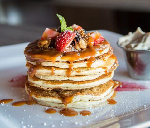Pancakes de avena con pasta de avellana BIO