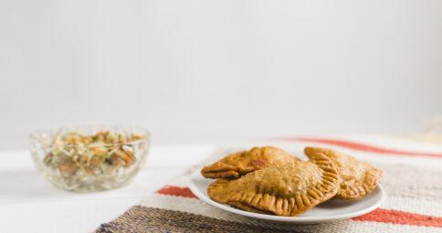 Empanadillas Veganas de berenjena y soja texturizada