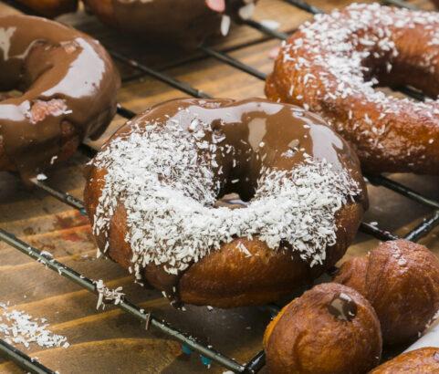 Donuts con bioChoc trozos de avellana