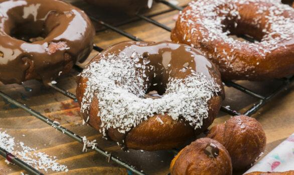 Donuts con bioChoc de avellana