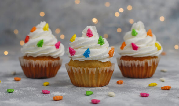 Cupcakes Navideños Veganos y Sin Gluten