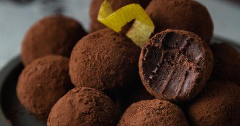 Trufas de chocolate y naranja Veganas BIO