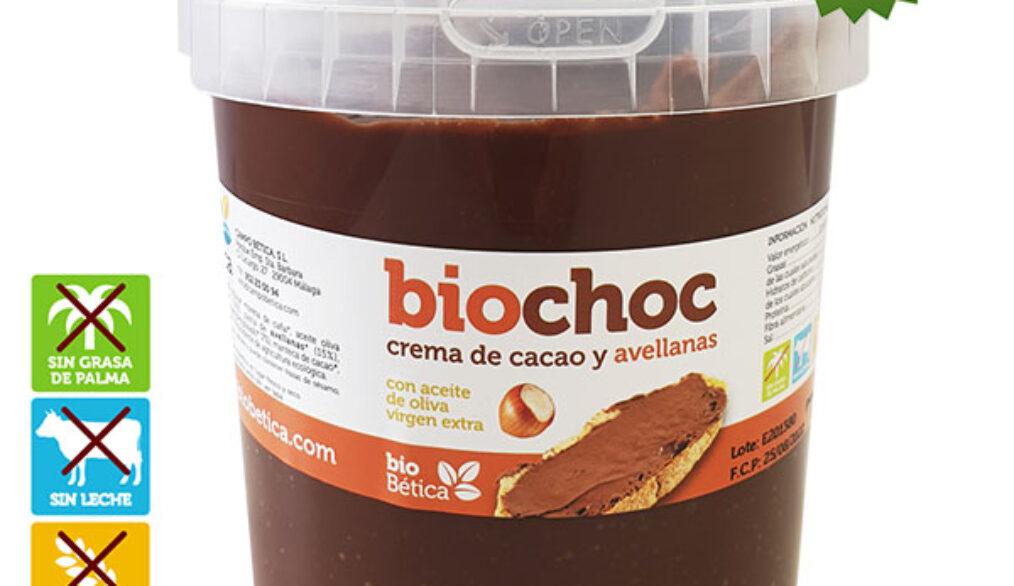 Crema de cacao y avellanas sin gluten y sin lactosa. VEGANA