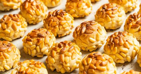 Panellets Veganos con Tahín - Sin Gluten