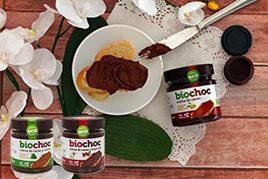 Crema de cacao sin frutos secos, sin gluten y sin lactosa - BioChoc