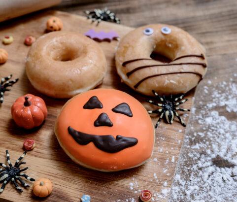 Donuts sin gluten para Halloween